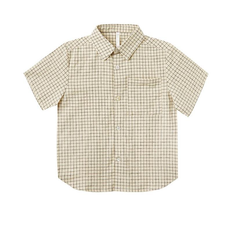 Rylee & Cru Rylee & Cru Teen Grid Collared Shirt