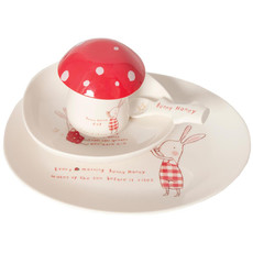 Maileg Maileg Bunny Honey Melamine 5pc Set in Giftbox