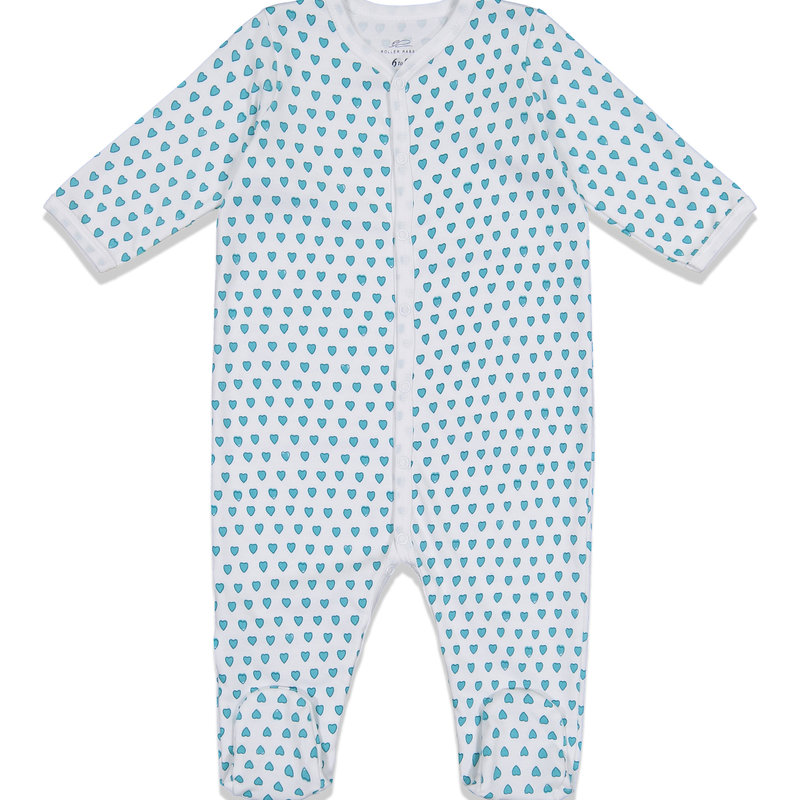 Roller Rabbit Roller Rabbit Hearts Infant Footie PJs