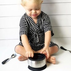 Avanchy Avanchy Stainless Steel Baby Bowl & Spoon Combo + Air Tight Lid - Orange