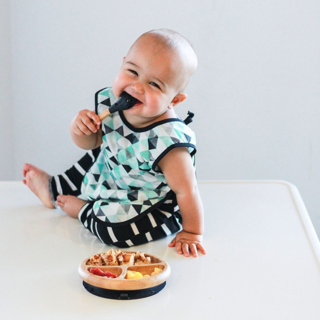 Avanchy Avanchy Bamboo and Silicone Baby Spoons 5pk - Blue Edition