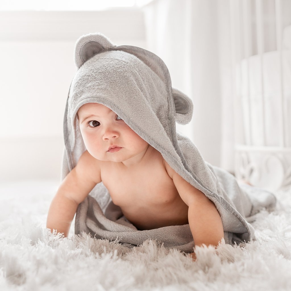 Natemia Bamboo Baby Bath Hooded Towel