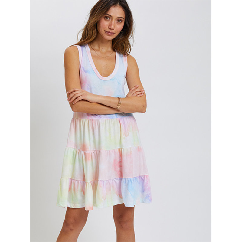 Sol Angeles Sol Angeles W Watercolor Tier Dress