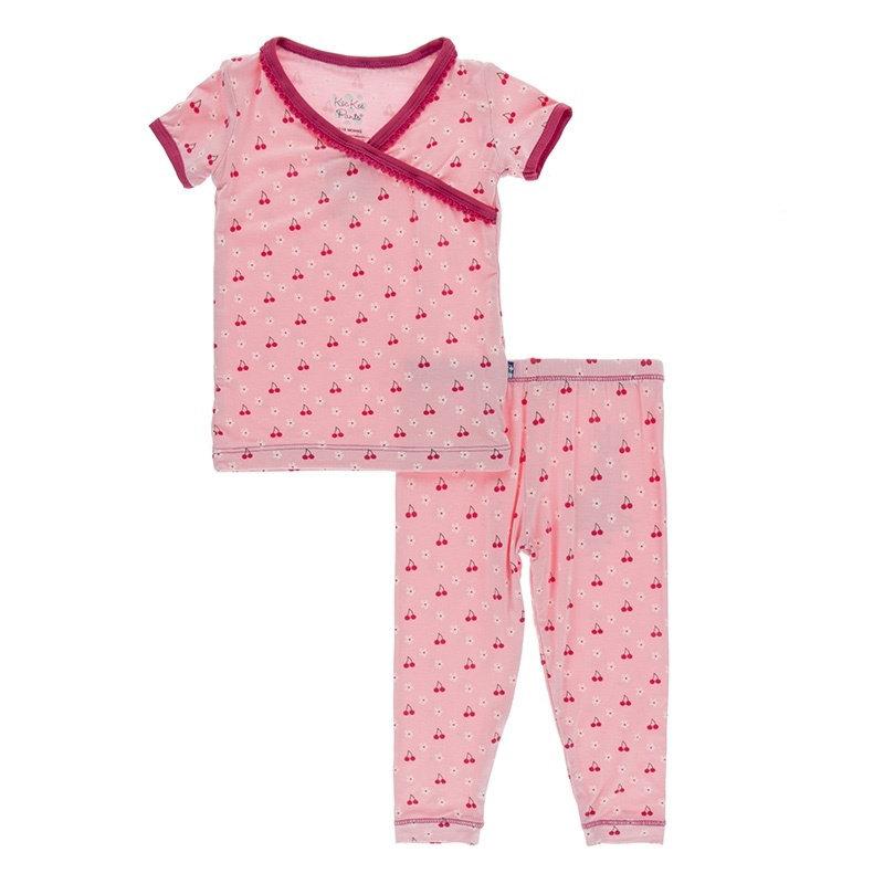 KicKee Pants KicKee Pants S/S Scallop Kimono PJ Set