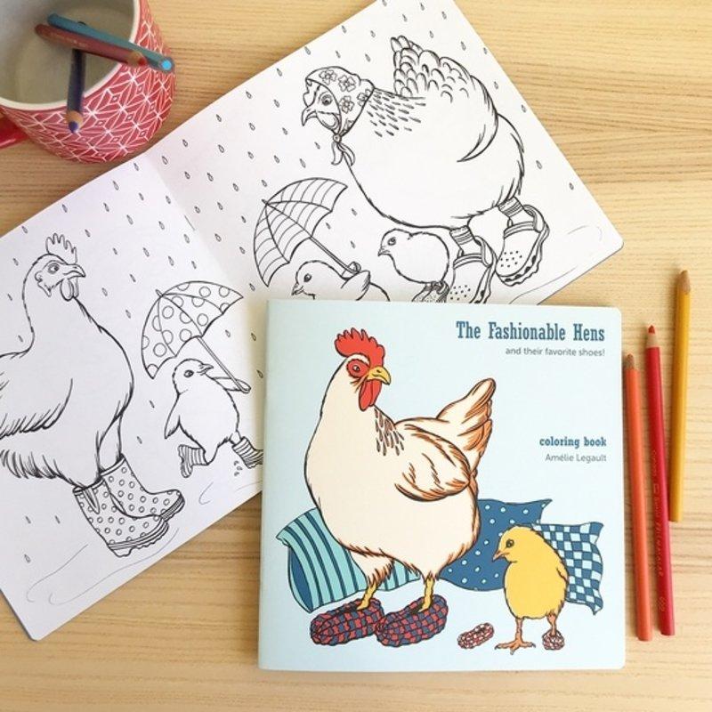 Amélie Legault Amélie Legault Hens - Coloring Book