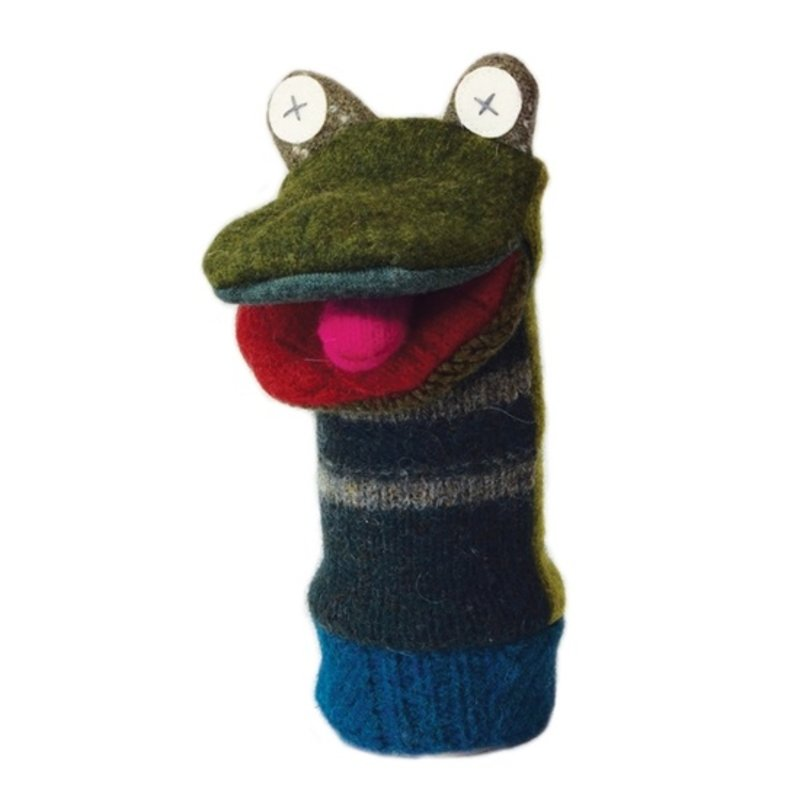 Cate and Levi Frog Wool Puppet