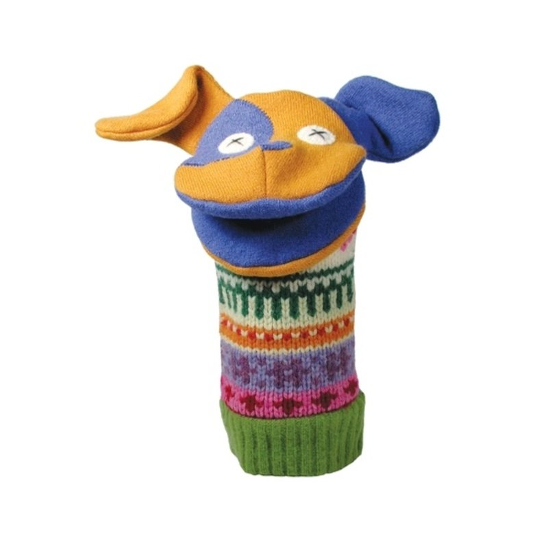 Cate and Levi Dog Wool Puppet