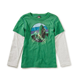 Tea Collection Tea Cleared for Takeoff Layered Tee