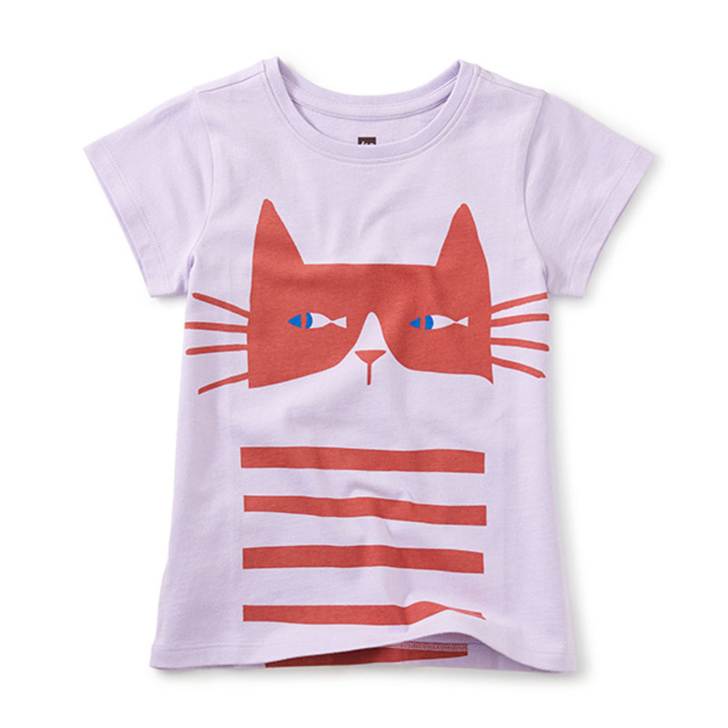 Tea Collection Tea Cat Fish Double-Sided Tee