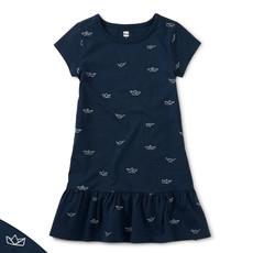 Tea Collection Tea Collection Junior Girls Ruffle Hem Dress