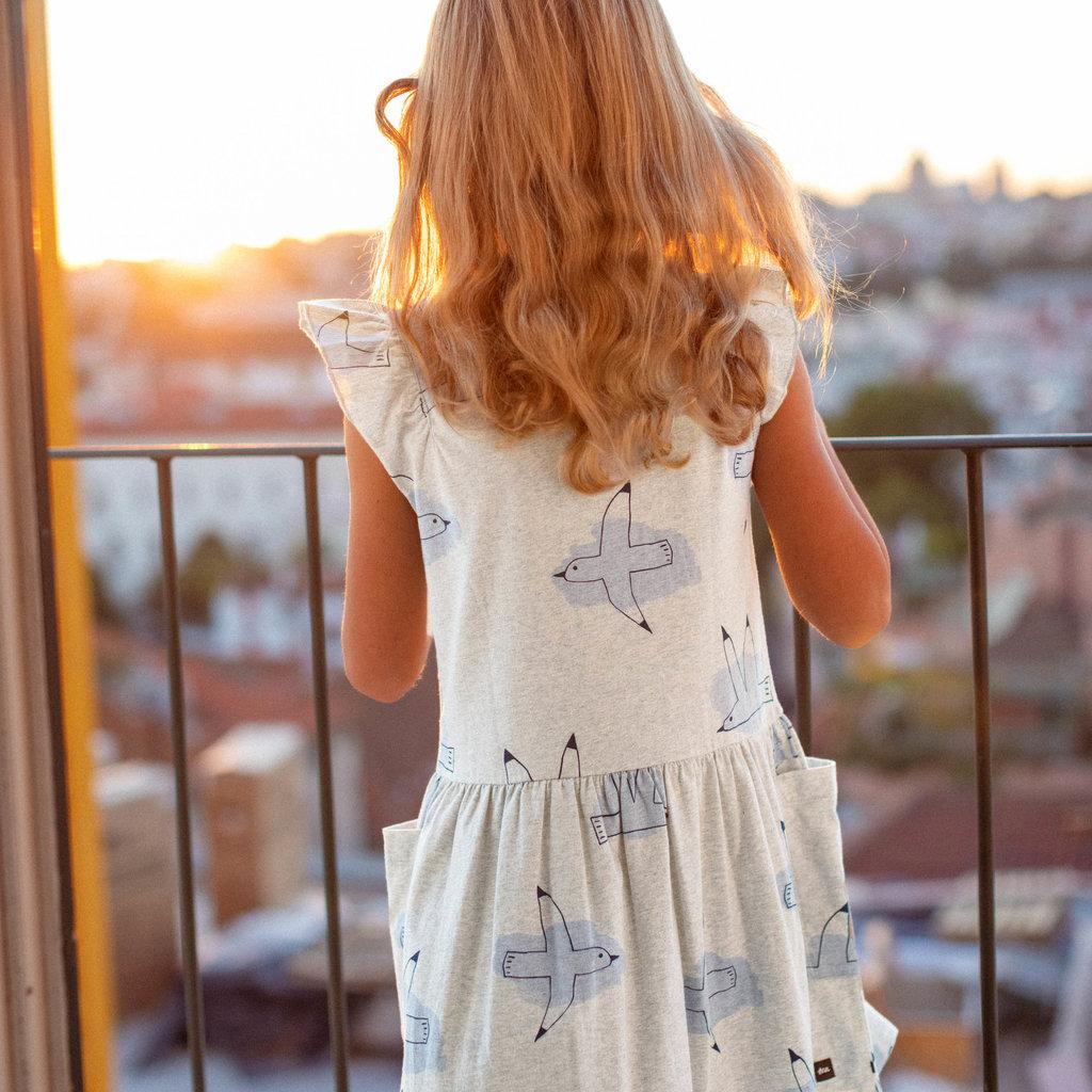 Tea Collection Tea Collection Girls Flutter Sleeve Pocket Dress