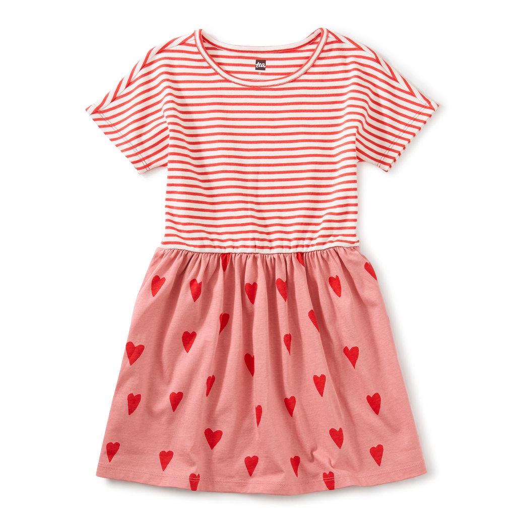 Tea Collection Tea Collection Girls Print Mix Twirl Dress