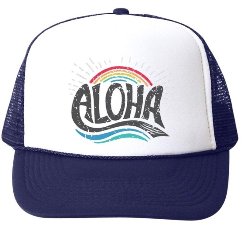 Bubu Aloha Rainbow Trucker Hat