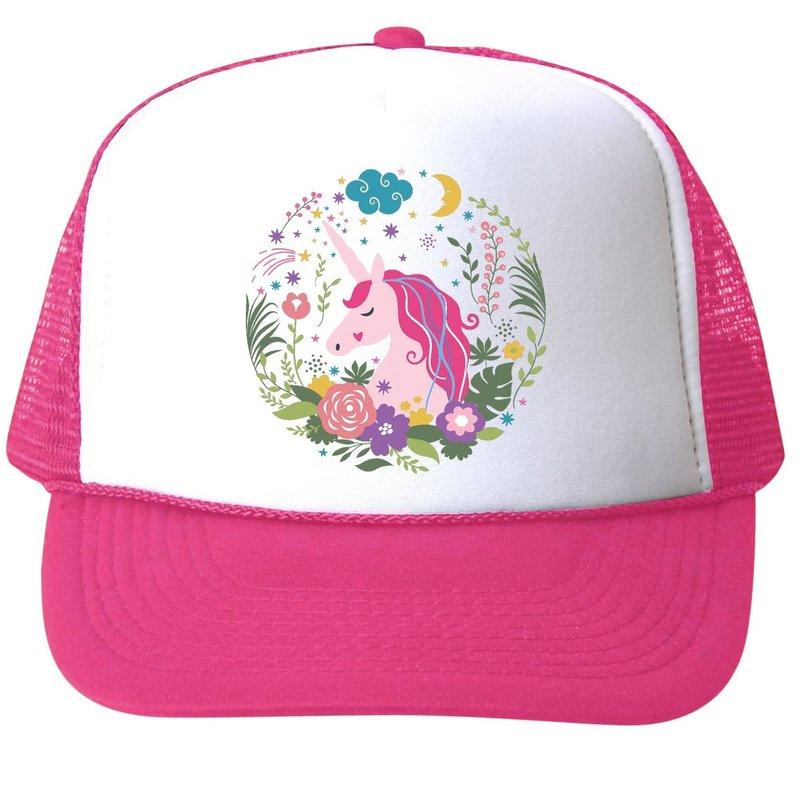 Bubu Unicorn Flowers Trucker Hat