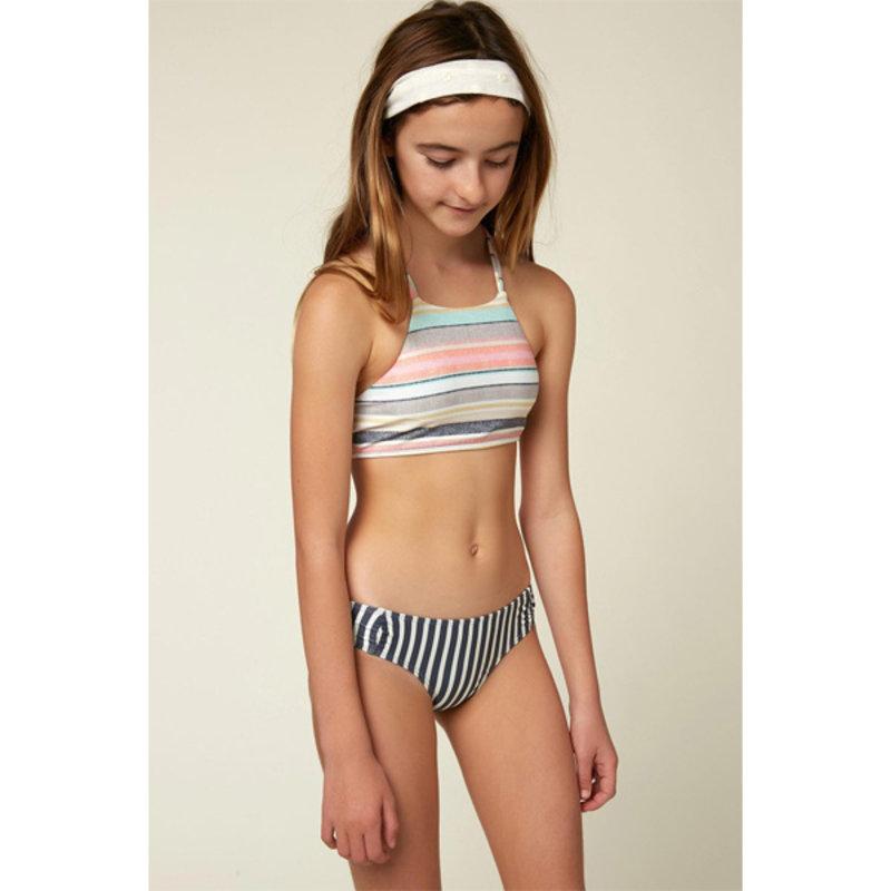 O'Neill O'Neill Girls Cruz Stripe Braided Strap Hi-Neck