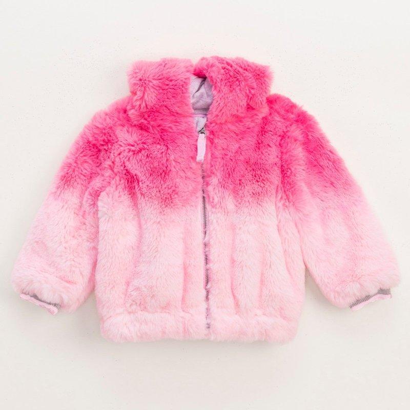 Splendid Baby Dip Dye Fur Coat