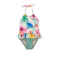 Tea Collection Tea Collection Girls Peplum One-Piece Swimsuit