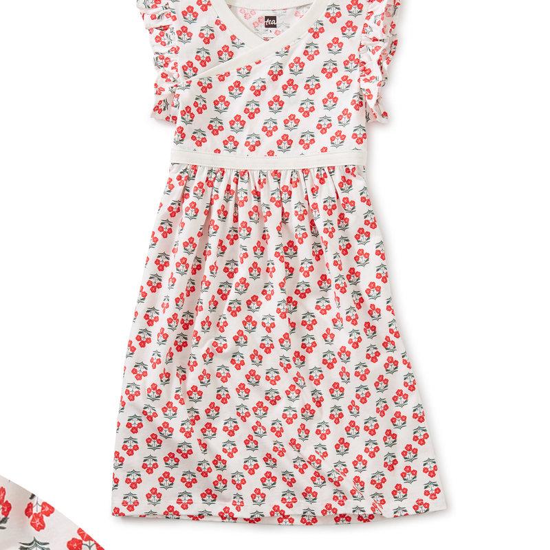 Tea Collection Tea Wrap Neck Dress
