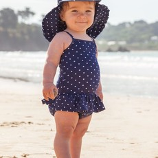 JoJo Maman Bebe JoJo Maman Bebe Girls Swimsuit w/ Nappy