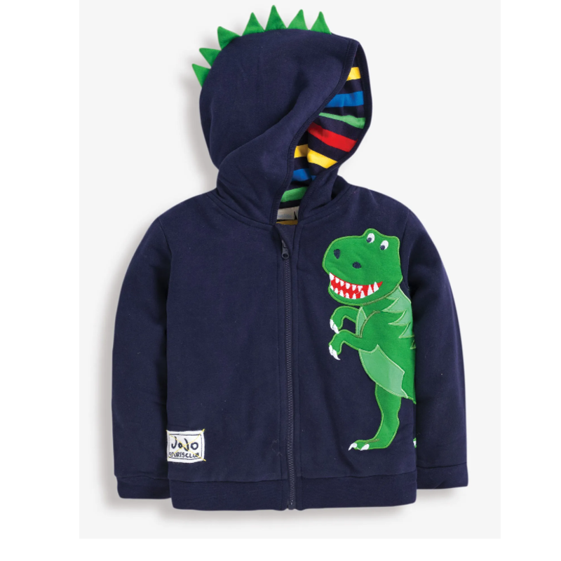 JoJo Maman Bebe JoJo Maman Baby T-Rex Zip-Up Hoodie