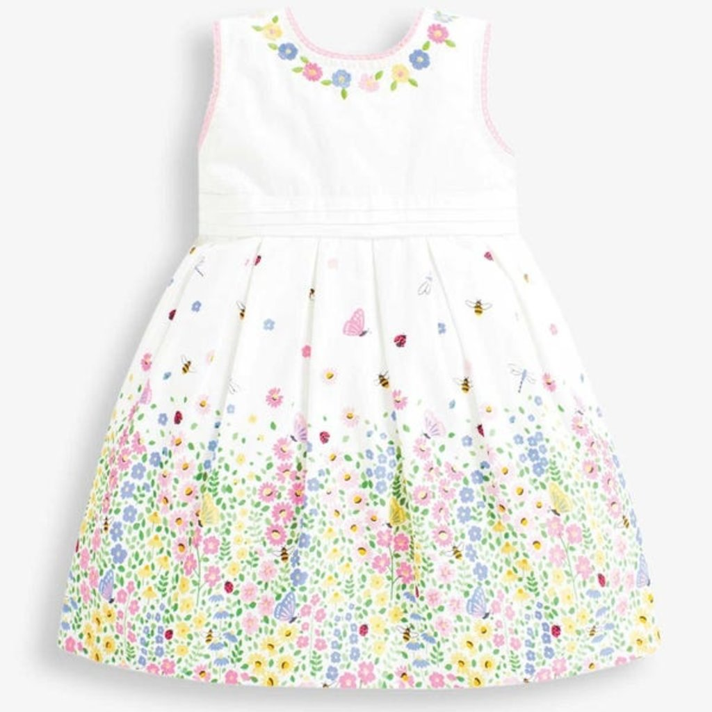 JoJo Maman Bebe JoJo Maman Bebe Girls Garden Border Party Dress - Size: 3-4