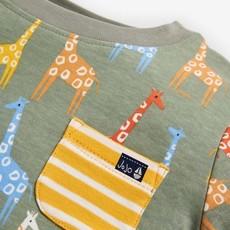 JoJo Maman Bebe JoJo Maman Bebe Boys Khaki Giraffe T-Shirt