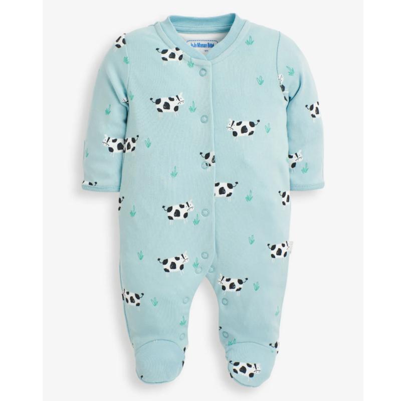 JoJo Maman Bebe JoJo Maman Cow Print Sleepsuit