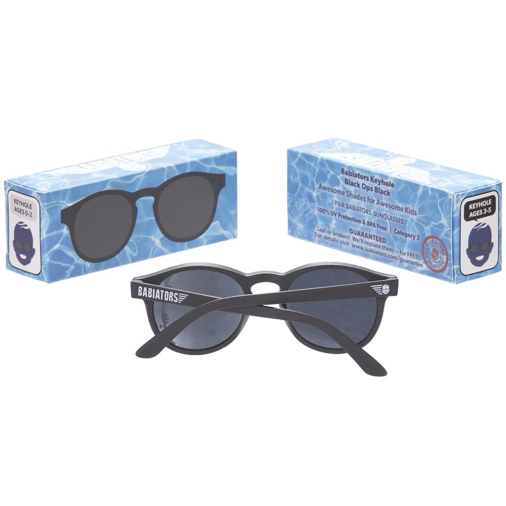 Babiators Black Ops Keyhole Sunglasses - 0-2Y