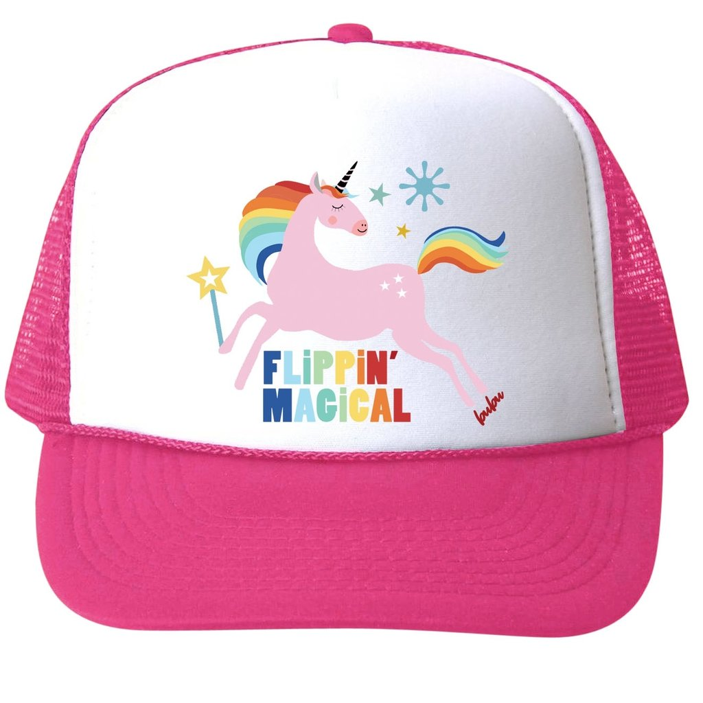 Bubu Flippin Magical Unicorn Trucker Hat