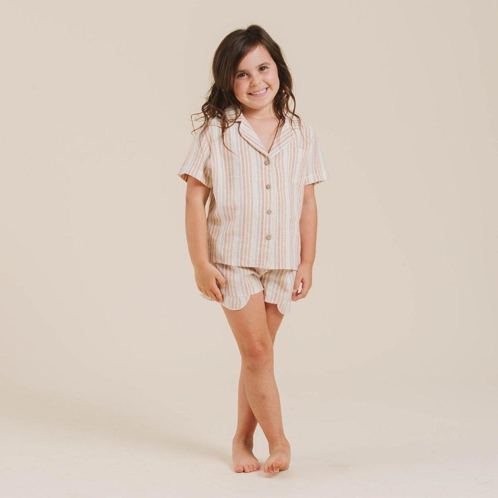 Rylee & Cru Rylee & Cru Junior Girls Striped Bedtime Pajama Set
