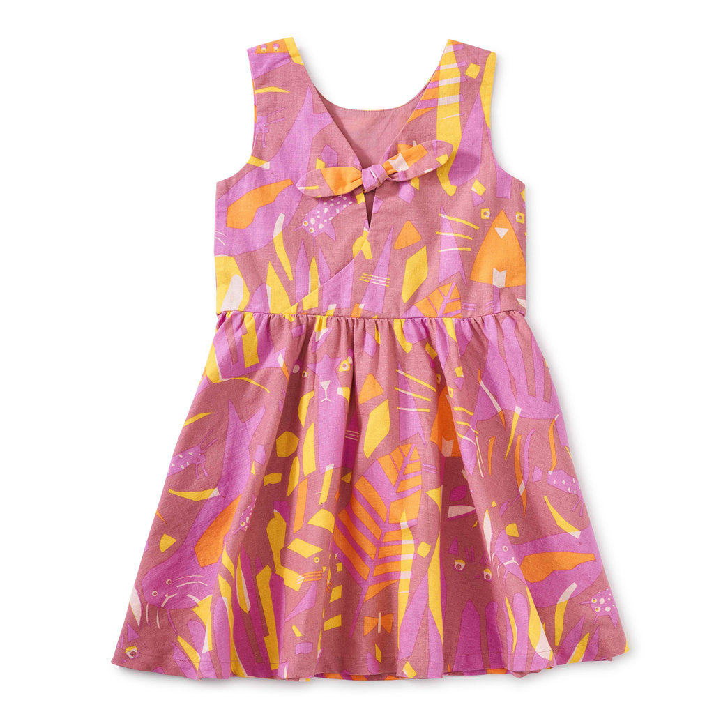 Tea Collection Tea Collection Girls Inês Machado Bow Back Dress