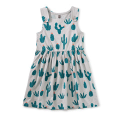 Tea Collection Tea Collection Junior Girls Button Shoulder Dress