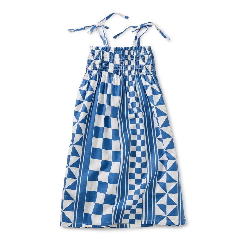 Tea Collection Tea Tie Shoulder Midi Dress
