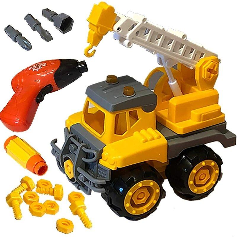 Funstruction Toys - Build & Play Crane Truck Toy