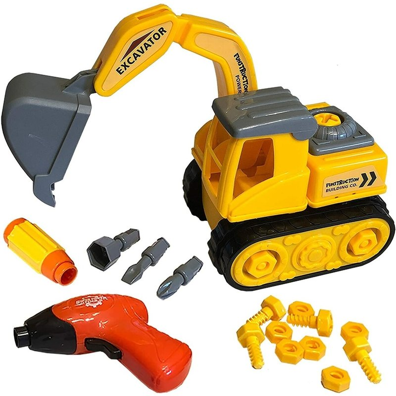 Funstruction Toys - Build & Play Excavator Toy