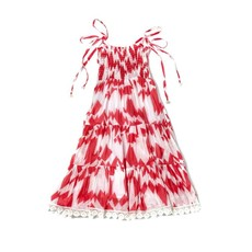 Ujala Ujala Girls Smocked Chest Tiered Maxi Dress