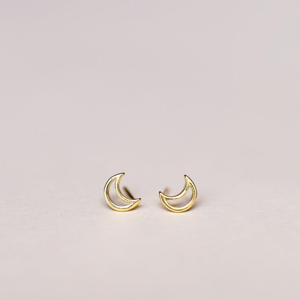 JaxKelly Minimalist Moon Earrings