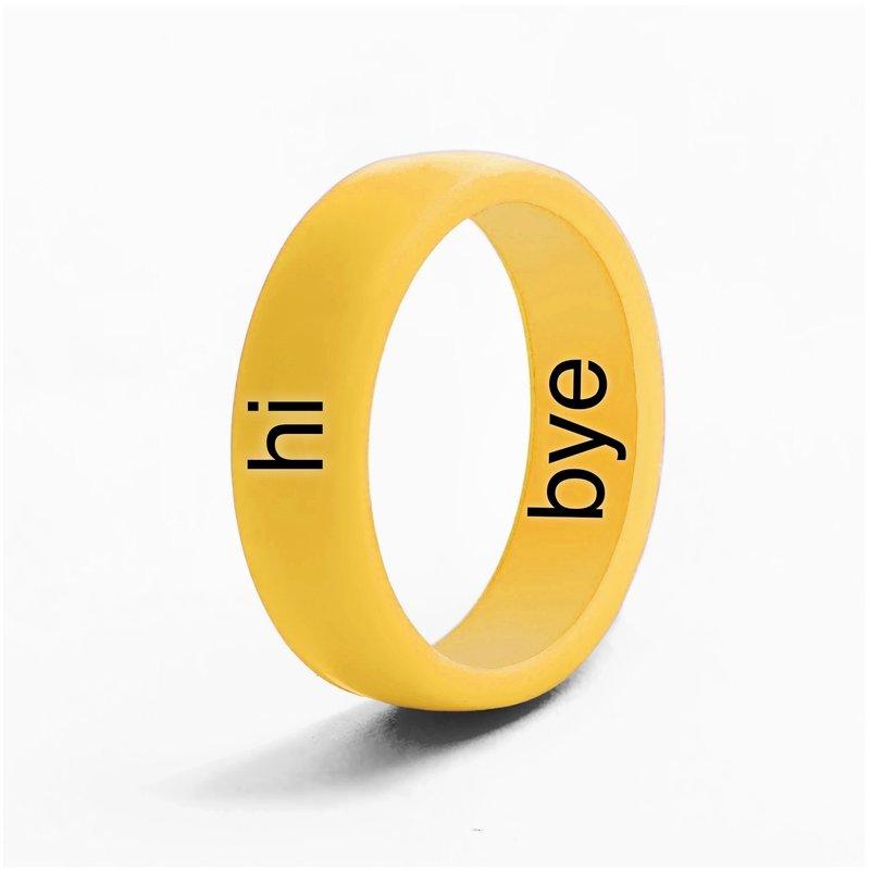 Flip Rings - Reversible Hi and Bye Ring