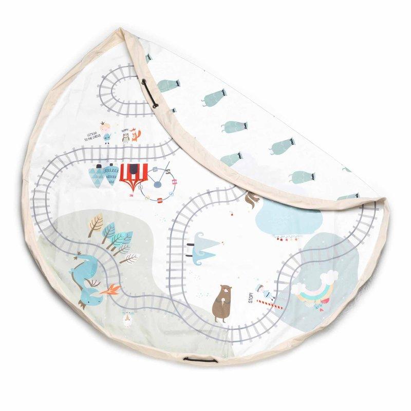 Play & Go Play & Go Playmat/Toy Bag - TRAINMAP/BEARS