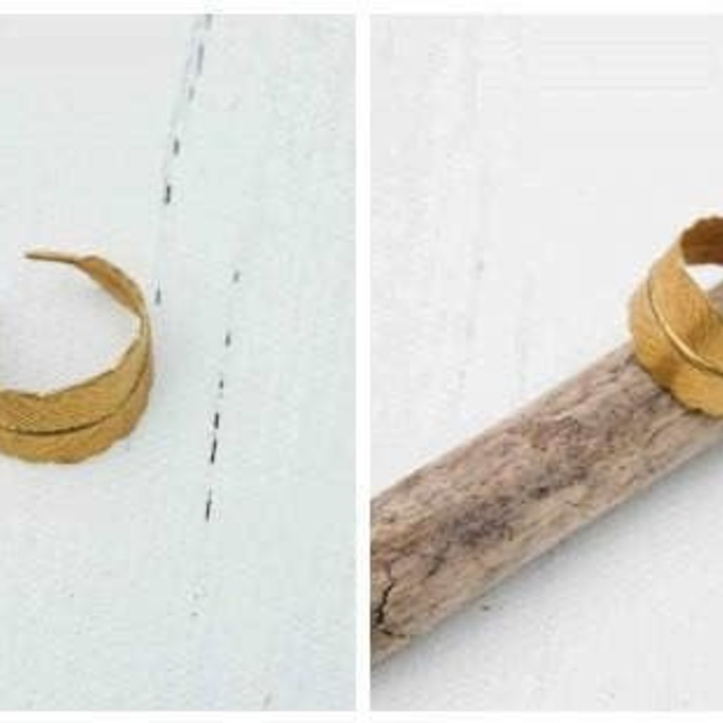 Red Truck Designs Adjustable Feather Ring - GOLD