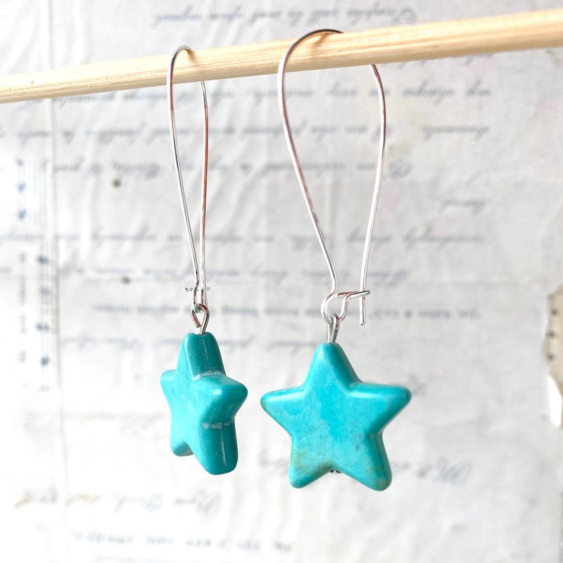 Red Truck Designs Star Earrings - TURQUOISE
