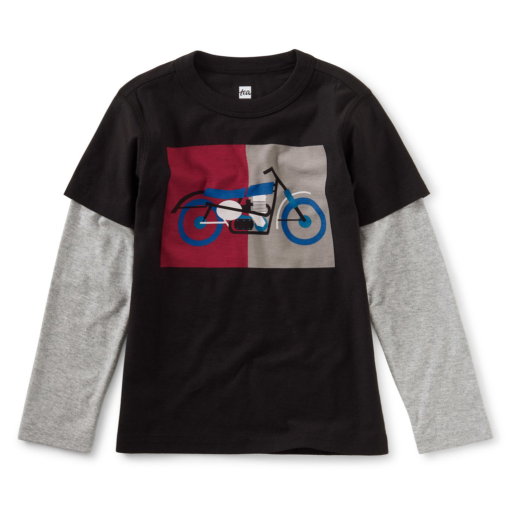 Tea Collection Tea Collection Toddler Motorcycle Layered Tee