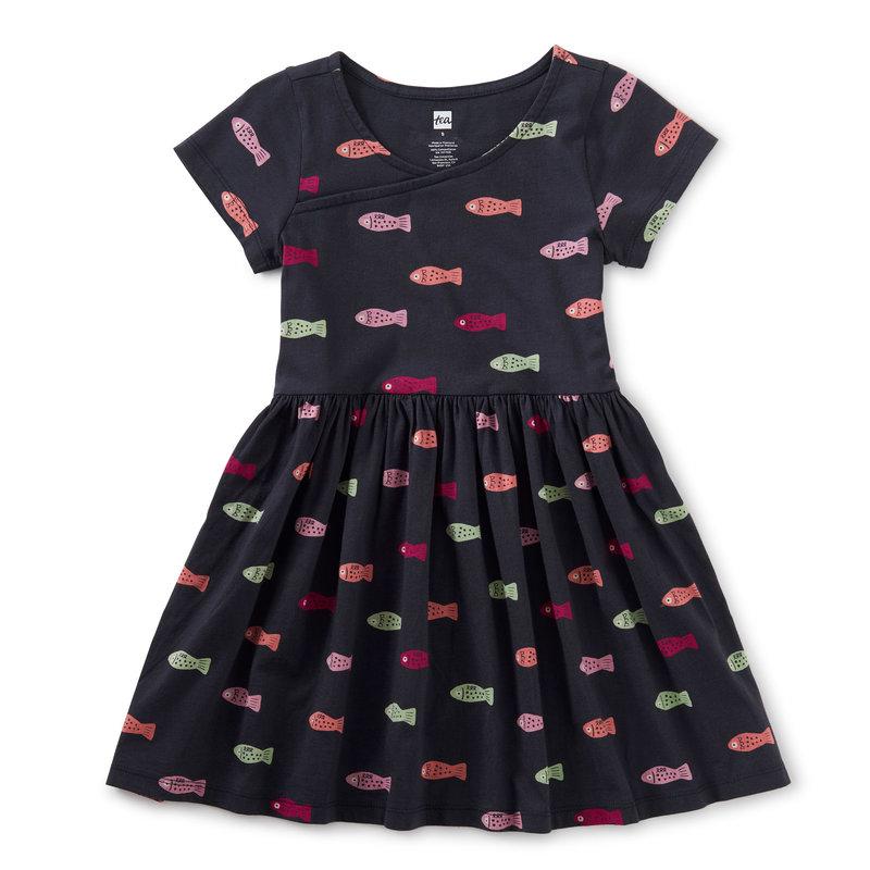 Tea Collection Tea Junior Wrap Neck Dress