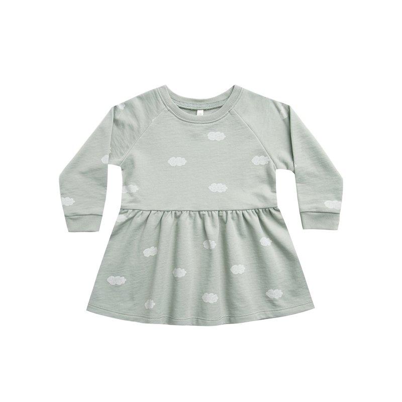 Rylee & Cru Rylee & Cru Girls Clouds LS Raglan Dress