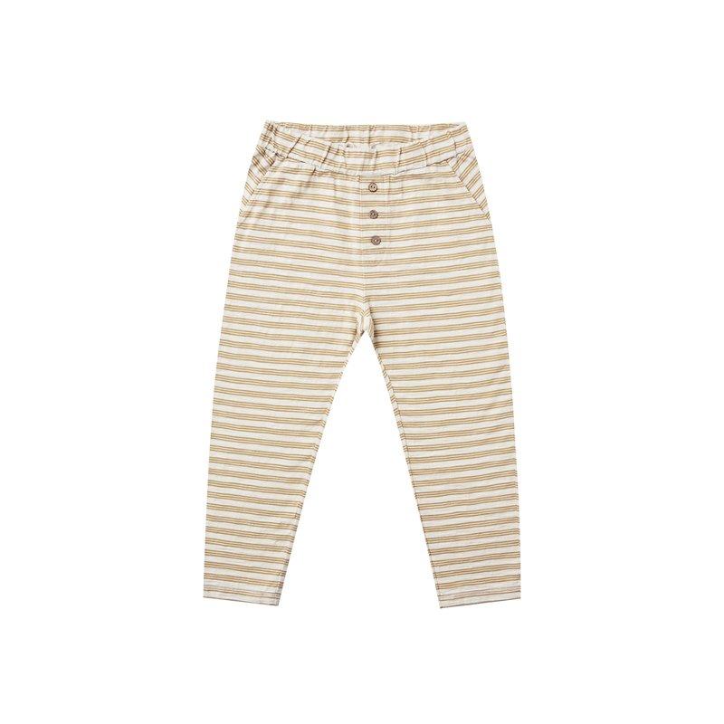Rylee & Cru Rylee & Cru Kids Gold Stripe Cru Pant
