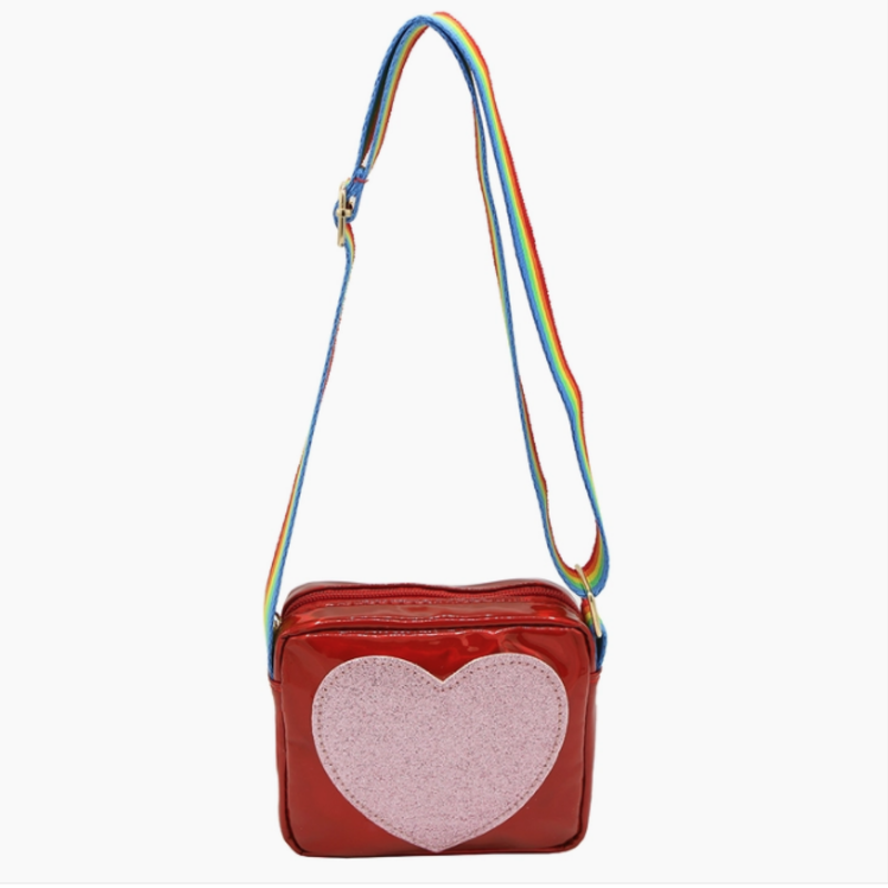 Sparkle Sisters - Heart Purse RED