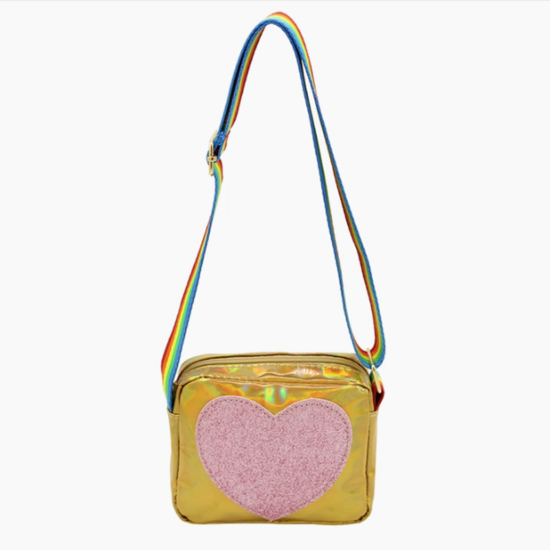 Sparkle Sisters - Heart Purse GOLD