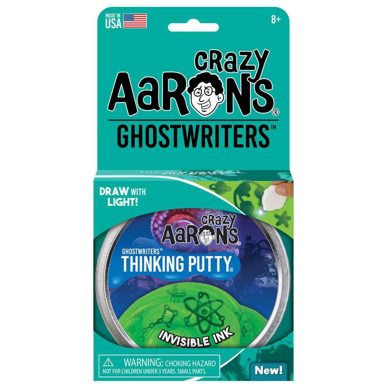 Crazy Aaron Ghostwriter Thinking Putty Tin -  Invisible