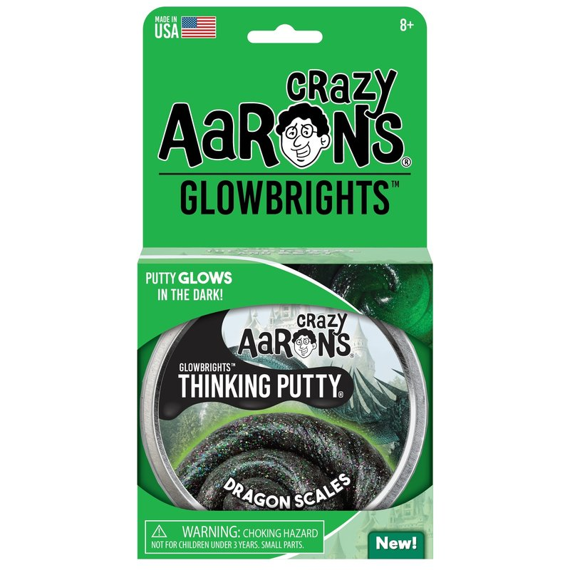 Crazy Aaron Thinking Putty Tin GLOW - Dragon Scales