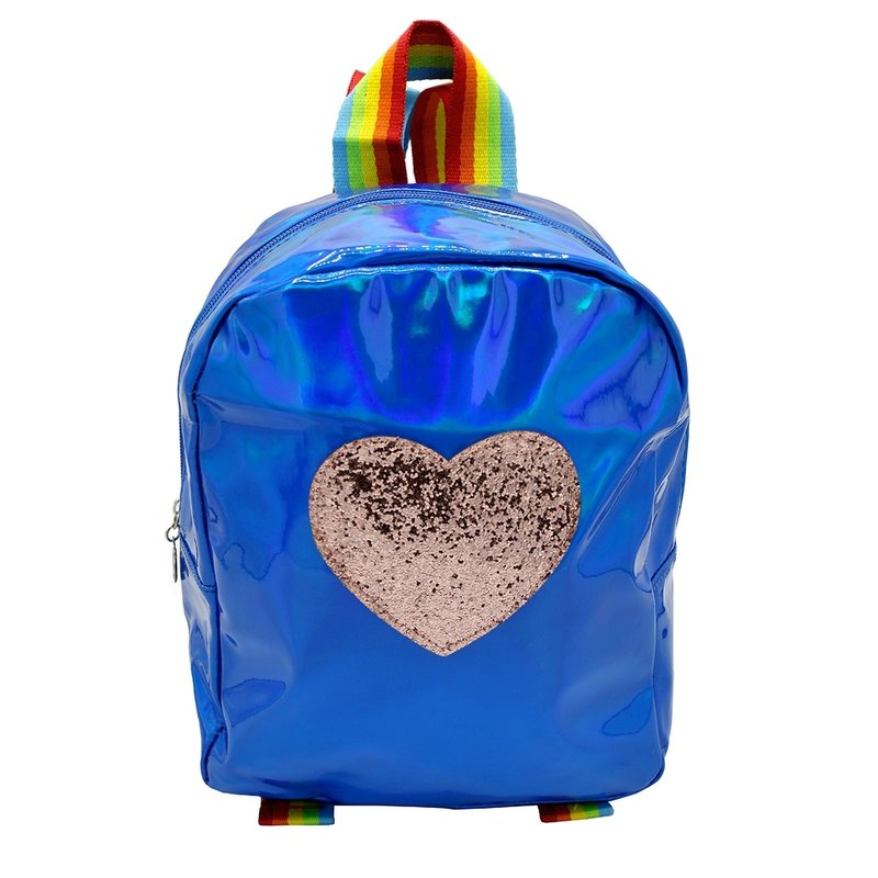 Sparkle Sisters Heart Backpack Blue